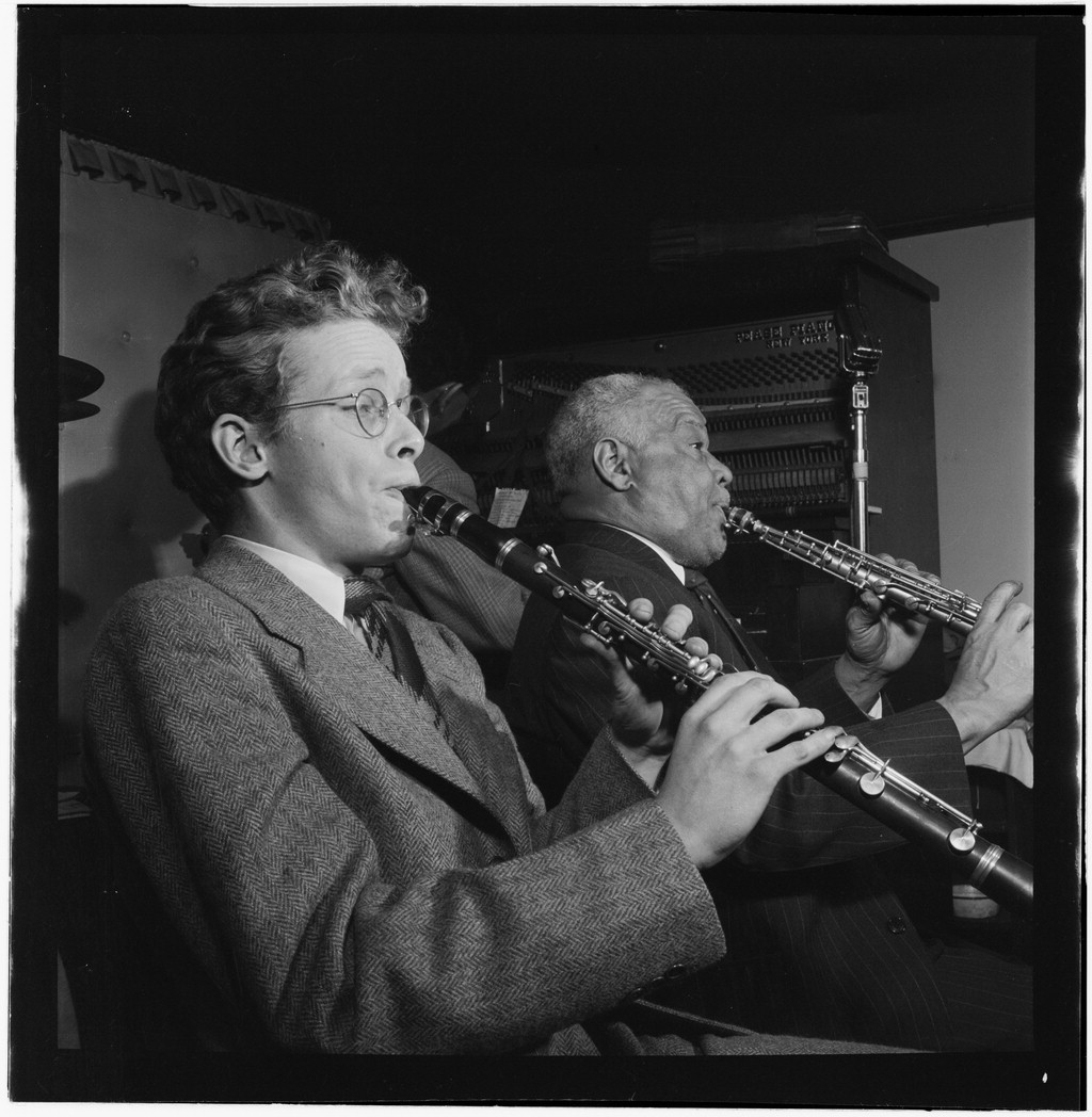 Young Bob Wilber and Sidney Bechet