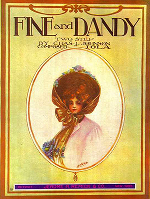 Fine and Dandy sheet music cover