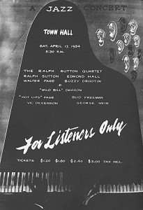 Sutton Quartet Concert Advertisement, 1954